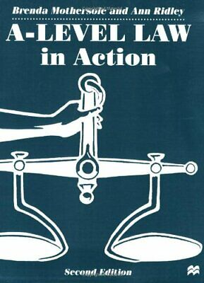 A-Level Law in Action (Macmillan law masters), Ridley, Ann Paperback Book The