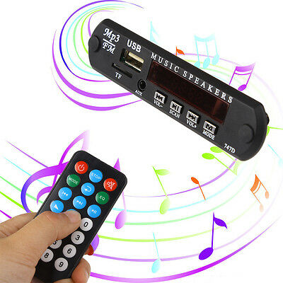 Car Stereo MP3 Decoder Board SD Audio Module 5V USB TF AUX FM Radio Remote