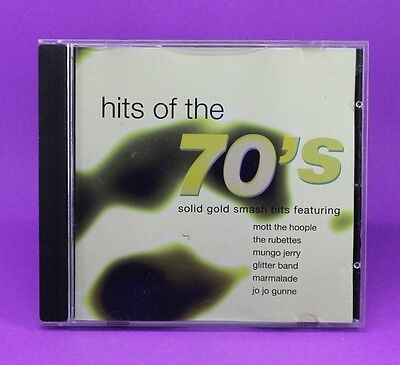 Hits of the 70's Solid Gold Smash Hits,18 Tracks Compilation,(1997 Pegasus) CD🎵