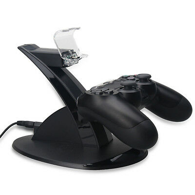 1Pc Video Game Accessory Dual USB Charger Charging Stand Dock for PS4 Controller