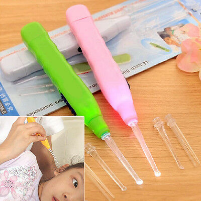 1PC Ear Cleaner Earwax Spoon Clean LED Light Flashlight Earpick