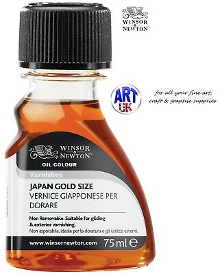Winsor & Newton Oil Colour Artists 75ml JAPAN GOLD SIZE Gilding & Varnishing