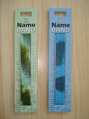 """History & Heraldry Rubber Personalised Wristband Boys Names Starting """"G"""" NEW"""