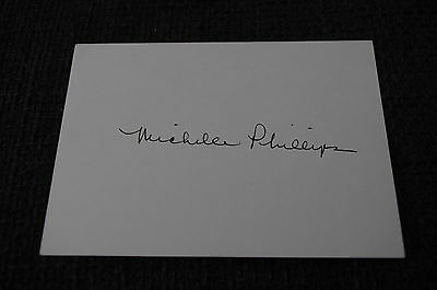 MICHELLE PHILLIPS signed Autogramm 10x15 cm Karteikarte THE MAMAS AND THE PAPAS