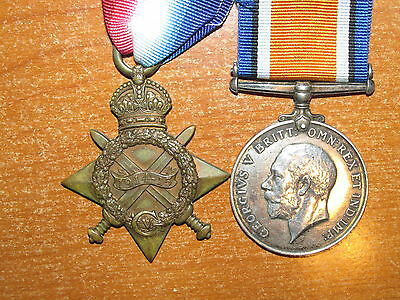 WW1 British Medal Group Pair to South Lancashire Regiment nice