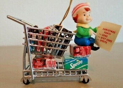 Enesco 1997 Coca-Cola Masterpiece Edition Ornament Stocking Up For The Holidays