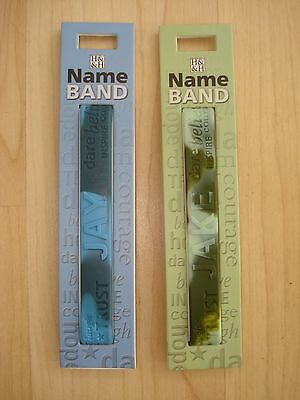 "History & Heraldry Rubber Personalised Wristband Boys Names Starting ""J"" NEW"
