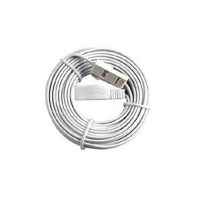 10m TELEPHONE FAX EXTENSION LEAD / CABLE, BT (MASTERPLUG) HIGH QUALITY