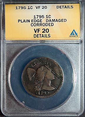 1795 Flowing Hair Large Cent Plain Edge **VF20**