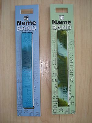 """History & Heraldry Rubber Personalised Wristband Boys Names Starting """"N"""" NEW"""