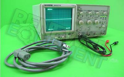 GW Instek GOS-6112 2-Channel 100MHz Curser Readout Analog Oscilloscope & Leads