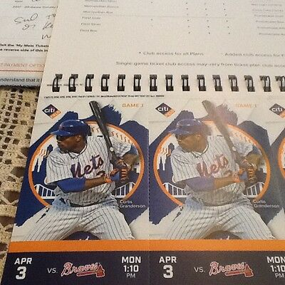 NY Mets opening day tickets 4/3/17 vs Braves