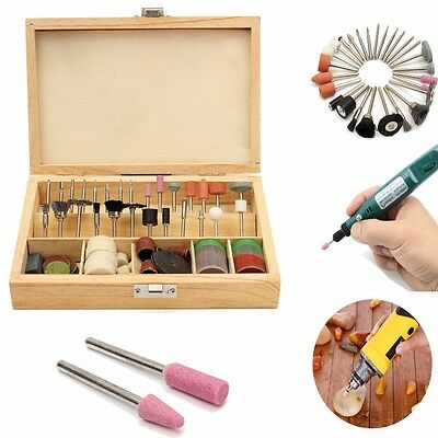 100 PCS Rotary Tool Accessory Bit Bits Set 1/8'' With Case For Jeweler Gunsmith