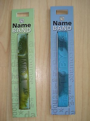 """History & Heraldry Rubber Personalised Wristband Boys Names Starting """"T"""" NEW"""
