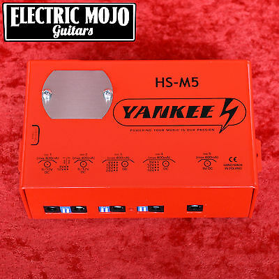 Yankee HS-M5 5 Isolated Outputs Guitar Effect Pedal Power Supply