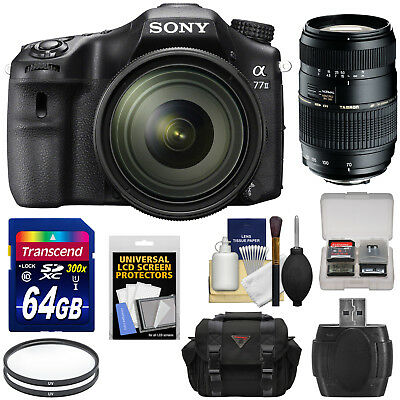 Sony Alpha A77 II HD Wi-Fi Digital SLR Camera & 16-50mm with 70-300mm Lens Kit