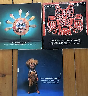3 Sotheby's Catalogs American Indian Eskimo 1980,1979   Includes Sales Results
