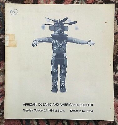 Sotheby's Catalog, African, Oceanic and American Indian Art 1980
