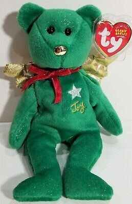 "TY Beanie Babies ""GIFT (Peace)"" the Red ANGEL Christmas Teddy Bear - MWMTs! MINT"