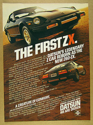 1979 Datsun 280ZX 'The First ZX' color photo vintage print Ad