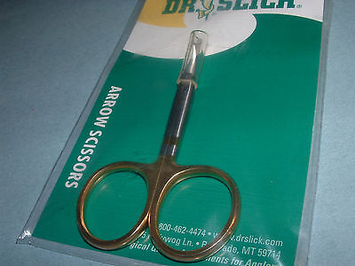 Dr Slick Arrow 3 1/2 inch Curved Scissors Fly Tying Fishing Tools SAC35G