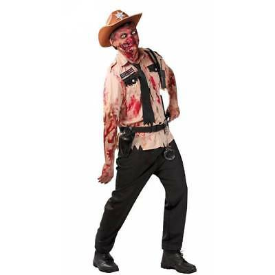 Zombie Policeman Cop Walking Dead Fancy Dress Adult Costume