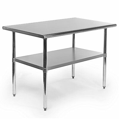 Gridmann NSF Stainless Steel Commercial Kitchen Prep & Work Table - 48 in. x 30