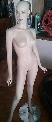 Older Life Size Store Mannequin Metal Joints Great Condition