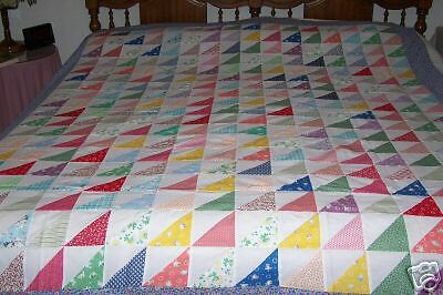 Sawtooth Patchwork Quilt Top Block - Old Fashioned