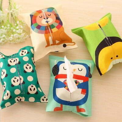 Cartoon Animal Tissue Paper Storage Box Cotton Linen Napkin Cover Holder Case