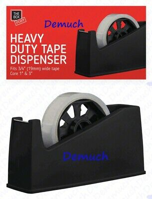 New Heavy Duty Tape Dispenser Desktop Office Sellotape Cellotape Pack Holder UK✔