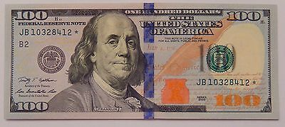 1x $100 Blue Star Federal Reserve Note US Currency One Hundred Dollar Bill