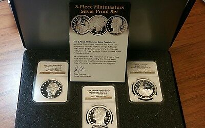 3 coin mintmasters silver proof set  NGC Ultra Cameo Gem Proof