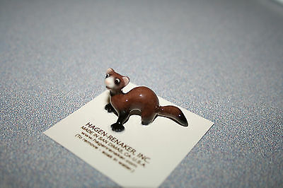 Hagen Renaker,Ferret,Lying,Funny,Figurine,Miniature,Gift,New,2017,Free Ship,3319