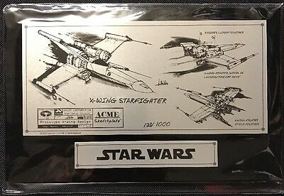 SDCC 2007 Star Wars X-Wing Starfighter Sketchplate Acme Archives LIMIT 101/1000