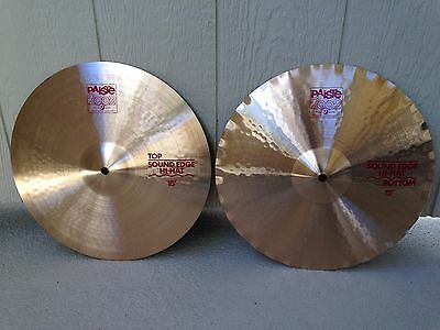 "Vntg New Old Stock 1988 Paiste 2002 15"" Sound Edge Hi-Hat Cymbals, Minty !"