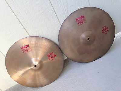 "Vntg New Old Stock 1980's Paiste 2002 15"" Heavy Hi-Hat Cymbals."