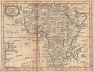 Rare Original 1759 Antique World Continent Map AFRICA Morocco Egypt Sahara Nile