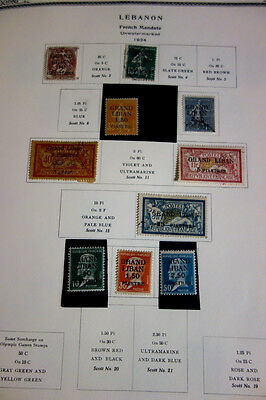 Lebanon Stamps Mint/Used 1920's-60's Collection in New Scott Album