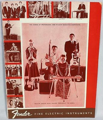 Fender 1960 Downbeat Insert 6 Page Guitar Catalog Reprint P/N 0995503008