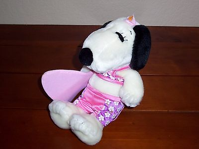 "10"" Peanuts Snoopy's Sister Belle Surfer Girl Swim Surf Beach Plush Doll Toy UFS"