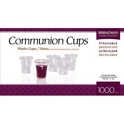 Brand New -Communion Plastic Cups Box Of 1000