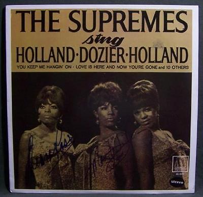 """SUPREMES) DIANA ROSS Autographed Greeting Card """"My World Is Empty"""