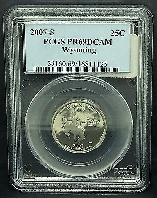 2007-S Proof  Wyoming State Quarter PCGS  PR69 DCAM  Free Shipping
