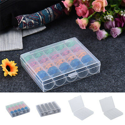 Bobbin Storage Box Case with 25 Bobbins Plastic / Iron Bobbin for Sewing Machine
