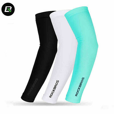 RockBros Cooling Arm Sleeves Outdoor Sports Sun UV Protection Covers Breathable