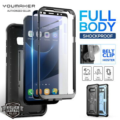 YOUMAKER® Samsung Galaxy S8 / S8 Plus HEAVY DUTY Shockproof KickStand Case Cover