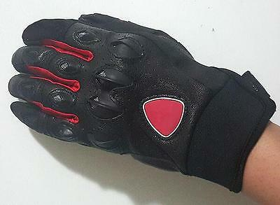 DUCATI Motorcycle Leather Gloves Protective Gear Performance Bike Racing Glove