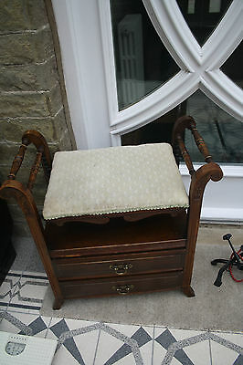 piano stool CLASSIC EDWARDIAN  with two drawers