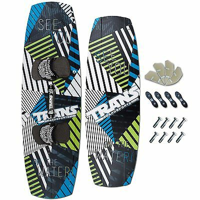 TRANS FREESTYLE KITEBOARD 2017 ~ SEE YOU 138 x 40 + TRANS PADSET + FINNEN